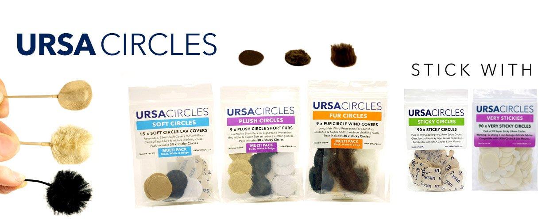 URSA Circles - Lav Mic Protection - Soft, Plush and Fur Circles
