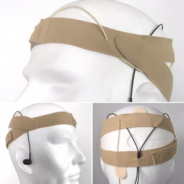 URSA Head Straps Montage on Dummy Head Beige