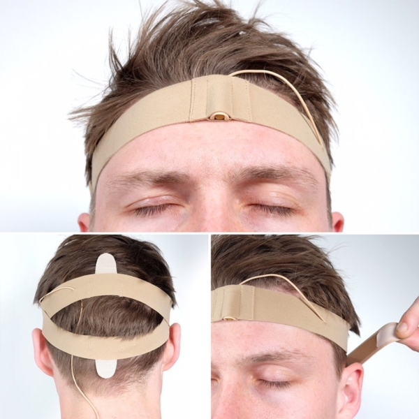 URSA Head Straps Montage on Real Head Beige