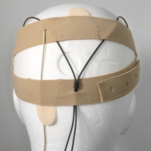 URSA Head Straps on Dummy Head Back Beige