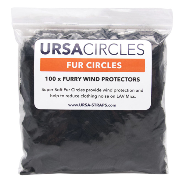 URSA Fur Circles Black Package of 100